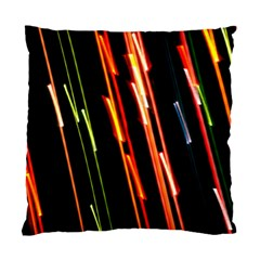Colorful Diagonal Lights Lines Standard Cushion Case (two Sides) by Alisyart