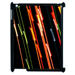 Colorful Diagonal Lights Lines Apple Ipad 2 Case (black) by Alisyart