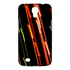 Colorful Diagonal Lights Lines Samsung Galaxy Mega 6 3  I9200 Hardshell Case by Alisyart