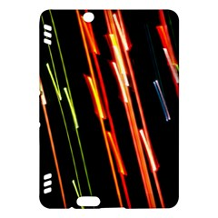 Colorful Diagonal Lights Lines Kindle Fire Hdx Hardshell Case by Alisyart