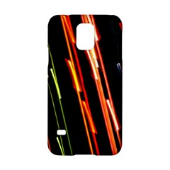 Colorful Diagonal Lights Lines Samsung Galaxy S5 Hardshell Case  by Alisyart