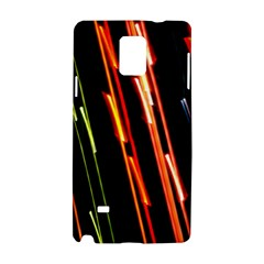 Colorful Diagonal Lights Lines Samsung Galaxy Note 4 Hardshell Case by Alisyart