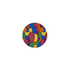 Circles Color Yellow Purple Blu Pink Orange Illusion 1  Mini Buttons by Alisyart