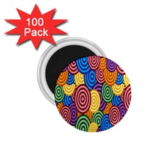 Circles Color Yellow Purple Blu Pink Orange Illusion 1 75  Magnets (100 Pack)  by Alisyart