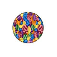 Circles Color Yellow Purple Blu Pink Orange Illusion Hat Clip Ball Marker by Alisyart
