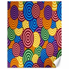 Circles Color Yellow Purple Blu Pink Orange Illusion Canvas 11  X 14   by Alisyart