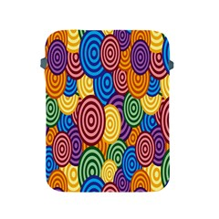 Circles Color Yellow Purple Blu Pink Orange Illusion Apple Ipad 2/3/4 Protective Soft Cases by Alisyart