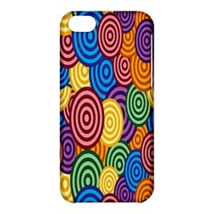 Circles Color Yellow Purple Blu Pink Orange Illusion Apple Iphone 5c Hardshell Case by Alisyart