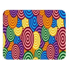 Circles Color Yellow Purple Blu Pink Orange Illusion Double Sided Flano Blanket (large)  by Alisyart