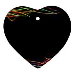 Colorful Light Frame Line Ornament (heart) by Alisyart