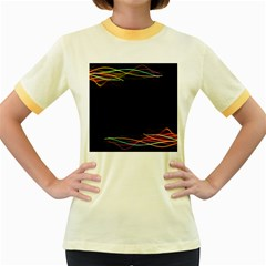 Colorful Light Frame Line Women s Fitted Ringer T Shirts by Alisyart