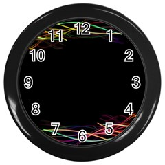 Colorful Light Frame Line Wall Clocks (black) by Alisyart