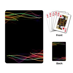 Colorful Light Frame Line Playing Card by Alisyart
