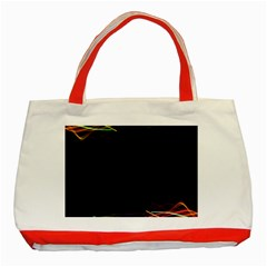 Colorful Light Frame Line Classic Tote Bag (red) by Alisyart