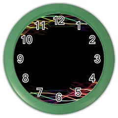 Colorful Light Frame Line Color Wall Clocks by Alisyart