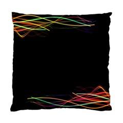 Colorful Light Frame Line Standard Cushion Case (one Side) by Alisyart