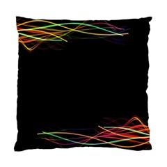 Colorful Light Frame Line Standard Cushion Case (two Sides) by Alisyart