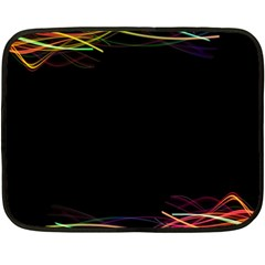 Colorful Light Frame Line Fleece Blanket (mini) by Alisyart