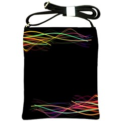 Colorful Light Frame Line Shoulder Sling Bags by Alisyart