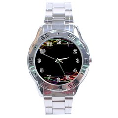 Colorful Light Frame Line Stainless Steel Analogue Watch by Alisyart