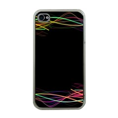 Colorful Light Frame Line Apple Iphone 4 Case (clear)