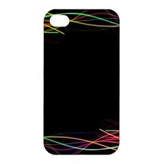 Colorful Light Frame Line Apple Iphone 4/4s Hardshell Case by Alisyart