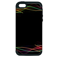 Colorful Light Frame Line Apple Iphone 5 Hardshell Case (pc+silicone) by Alisyart