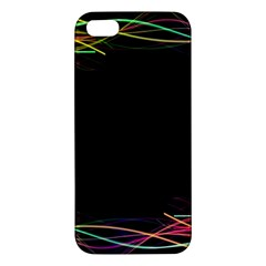 Colorful Light Frame Line Apple Iphone 5 Premium Hardshell Case by Alisyart