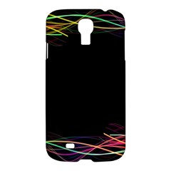 Colorful Light Frame Line Samsung Galaxy S4 I9500/i9505 Hardshell Case by Alisyart