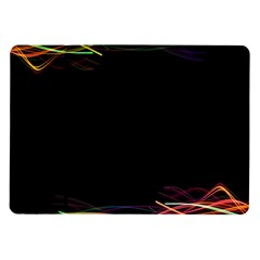 Colorful Light Frame Line Samsung Galaxy Tab 10 1  P7500 Flip Case by Alisyart