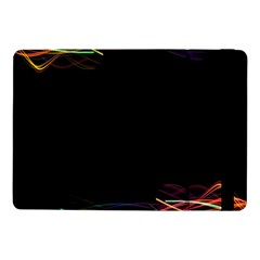 Colorful Light Frame Line Samsung Galaxy Tab Pro 10 1  Flip Case by Alisyart