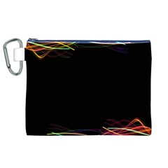 Colorful Light Frame Line Canvas Cosmetic Bag (xl) by Alisyart