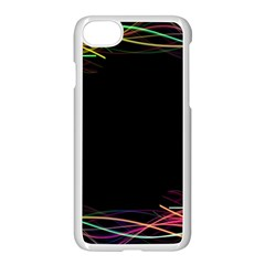 Colorful Light Frame Line Apple Iphone 7 Seamless Case (white) by Alisyart