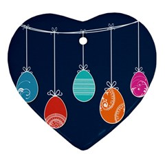 Easter Egg Balloon Pink Blue Red Orange Ornament (heart) by Alisyart