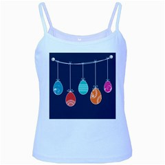Easter Egg Balloon Pink Blue Red Orange Baby Blue Spaghetti Tank by Alisyart