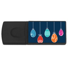 Easter Egg Balloon Pink Blue Red Orange Usb Flash Drive Rectangular (4 Gb) by Alisyart