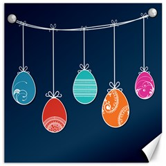 Easter Egg Balloon Pink Blue Red Orange Canvas 12  X 12   by Alisyart