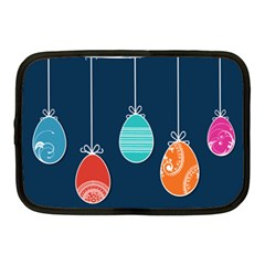 Easter Egg Balloon Pink Blue Red Orange Netbook Case (medium)  by Alisyart