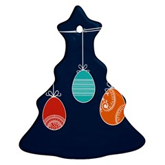 Easter Egg Balloon Pink Blue Red Orange Christmas Tree Ornament (two Sides) by Alisyart