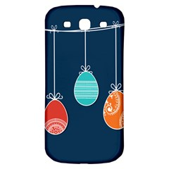 Easter Egg Balloon Pink Blue Red Orange Samsung Galaxy S3 S Iii Classic Hardshell Back Case by Alisyart