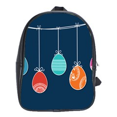 Easter Egg Balloon Pink Blue Red Orange School Bags (xl)  by Alisyart