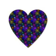 Circles Color Yellow Purple Blu Pink Orange Heart Magnet by Alisyart
