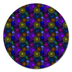 Circles Color Yellow Purple Blu Pink Orange Magnet 5  (round) by Alisyart
