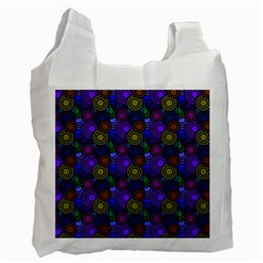Circles Color Yellow Purple Blu Pink Orange Recycle Bag (one Side) by Alisyart