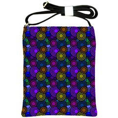 Circles Color Yellow Purple Blu Pink Orange Shoulder Sling Bags by Alisyart