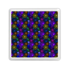 Circles Color Yellow Purple Blu Pink Orange Memory Card Reader (square)  by Alisyart