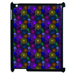 Circles Color Yellow Purple Blu Pink Orange Apple Ipad 2 Case (black) by Alisyart