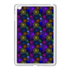 Circles Color Yellow Purple Blu Pink Orange Apple Ipad Mini Case (white) by Alisyart