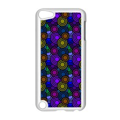 Circles Color Yellow Purple Blu Pink Orange Apple Ipod Touch 5 Case (white) by Alisyart