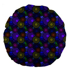 Circles Color Yellow Purple Blu Pink Orange Large 18  Premium Round Cushions by Alisyart